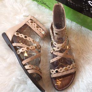 Sam Edelman Geren tan suede/leather sandals